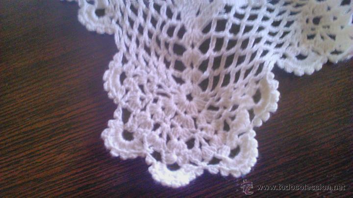 Vintage: Precioso camino de mesa de ganchillo color blanco.Nuevo sin estrenar .Tengo mas iguales en stoc - Foto 6 - 46099568