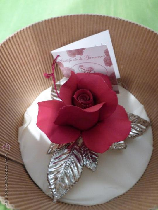 rosa italiana en soplado de murano sin uso
