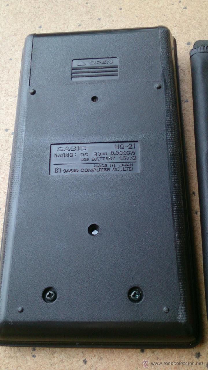 Vintage: Calculadora Casio HQ-21 Electronic Calculator - Foto 3 - 45672376