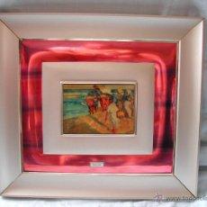 Vintage: VINTAGE CUADRO DE METAL DORADO Y LACADO SOROLLA.. Lote 45694050