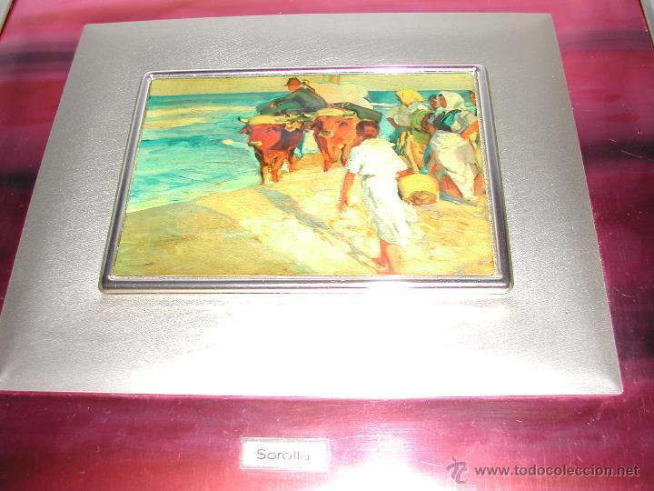 Vintage: VINTAGE Cuadro de metal dorado y lacado SOROLLA. - Foto 2 - 45694050