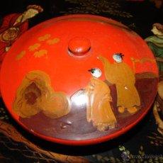 Vintage: MUY BONITA CAJA LACADA CHINA. Lote 45709897