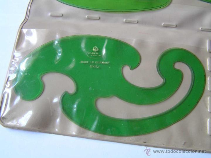 Vintage: 3 PLANTILLAS FABER CASTELL EN SU FUNDA Y 1 PLANTILLA STANDARDGRAPH - Foto 4 - 45844353