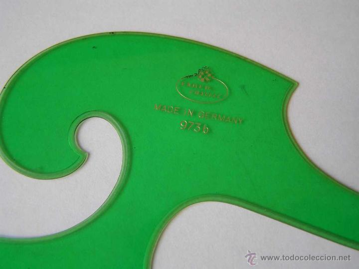Vintage: 3 PLANTILLAS FABER CASTELL EN SU FUNDA Y 1 PLANTILLA STANDARDGRAPH - Foto 20 - 45844353
