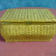 Vintage: CAJA COSTURA COSTURERO CAÑA.. Lote 45861018