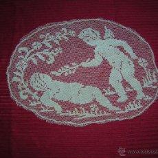Vintage: PRECIOSA LABOR A PUNTO DE RED MUY ANTIGUA . Lote 46126091