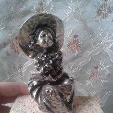 Vintage: BELLA ESCULTURA DE NIÑA RECUBIERTA EN PLATA POSIBLE S' PALIU. Lote 46211071
