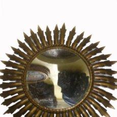 Vintage: BONITO ESPEJO DE SOL. METÁLICO. DIAMETRO DEL ESPEJO 23 CM. DIAMETRO TOTAL 43 CENTIMETROS. Lote 46310420