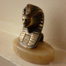 Vintage: ANTIGUO PISAPAPELES DE BRONCE Y MARMOL EGIPCIO. Lote 46316241