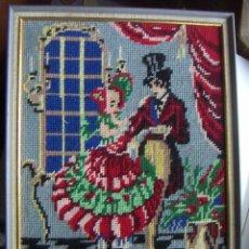 Vintage: VIEJO BORDADO DE PUNTO DE CRUZ. Lote 46376638
