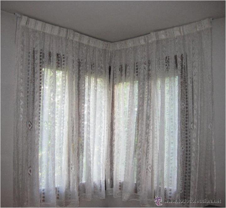 Visillos cortinas de encaje para 2 ventanas la comprar for Visillos confeccionados
