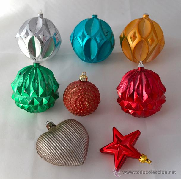 lote de adornos navideos vintage para el arbol corazon de metal vintage