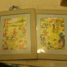 Vintage: CUADROS INFANTILES FAMILIAS ARDILLA Y RATON. Lote 46436054