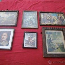 Vintage: LOTE DE 6 CUADROS ANTIGUOS ,, MUY BONITOS , IDEAL RESTAURADORES. Lote 46470564
