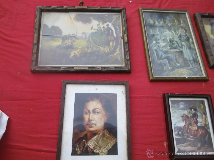 Vintage: LOTE DE 6 CUADROS ANTIGUOS ,, MUY BONITOS , IDEAL RESTAURADORES - Foto 2 - 46470564