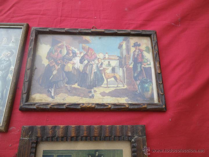 Vintage: LOTE DE 6 CUADROS ANTIGUOS ,, MUY BONITOS , IDEAL RESTAURADORES - Foto 4 - 46470564