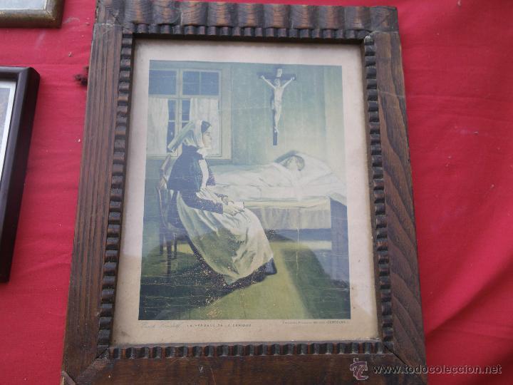 Vintage: LOTE DE 6 CUADROS ANTIGUOS ,, MUY BONITOS , IDEAL RESTAURADORES - Foto 5 - 46470564