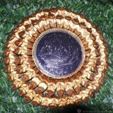 Vintage: UNICO! ESPEJO LAMPARA EN FORJA HIERRO TIPO SOL DORADO ORO ORIGINAL VINTAGE. Lote 46606910