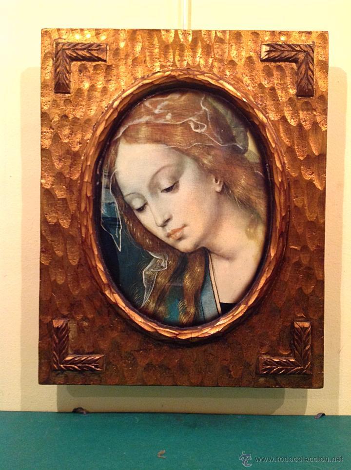 antiguo cuadro religioso con la imagen cara de - Comprar en ...