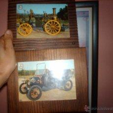 Vintage: LOTE 2 CUADROS EN MADERA COCHES ANTIGUOS-PARA COLGAR. Lote 46929828