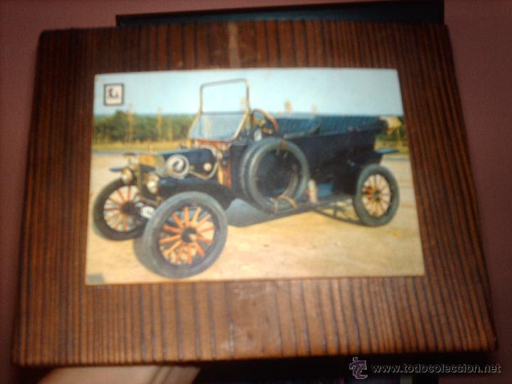 Vintage: LOTE 2 CUADROS EN MADERA COCHES ANTIGUOS-PARA COLGAR - Foto 4 - 46929828