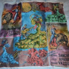 Vintage: PAÑUELO VINTAGE CON MOTIVOS TAURINOS. Lote 46988275