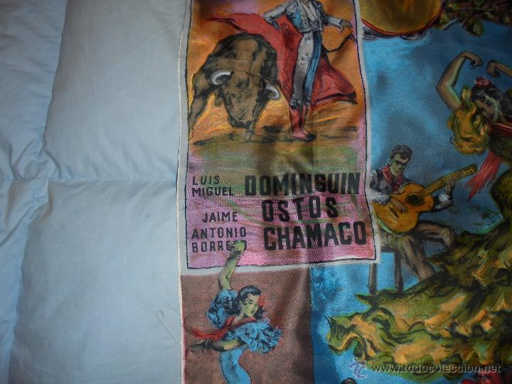 Vintage: PAÑUELO VINTAGE CON MOTIVOS TAURINOS - Foto 2 - 46988275