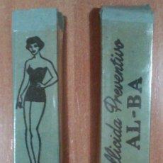 Vintage: CALLICIDA PREVENTIVO AL-BA ANTIGUO PRESERVATIVO AÑOS 50/60 EN SU CAJA ORIGINAL AZUL. Lote 142377017