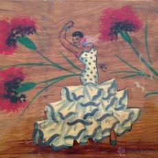 Vintage: ANTIGUA CAJA JOYERO CON ESPEJO. MADERA. Lote 47050567