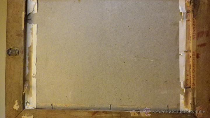 Vintage: Cuadro marco antiguo sagrado corazon de Jesus años 50 - Foto 3 - 50716338
