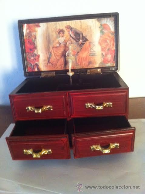 Vintage: Caja,cajones joyero musical bailarina - Foto 3 - 56844319