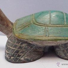 Vintage: TORTUGA TALLADA EN MADERA - ENVÍO GRATIS A ESPAÑA. Lote 47366690