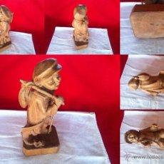 Vintage: TALLA DE MADERA 26,5 CM DE ALTO , . Lote 47414323
