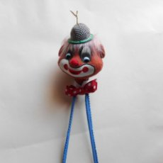 Vintage: ANTIGUO PAYASO DE FIELTRO PERCHERO. AÑOS 60. Lote 47454807