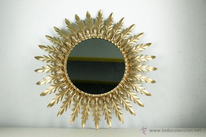 Espejo sol dorado metal vintage retro 60 39 s comprar en - Espejo sol dorado ...