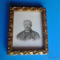 Vintage: RETRATO CON MARCO DORADO . Lote 47655791