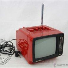 Vintage: TELEVISOR / TELEVISIÓN / TV PORTÁTIL RETRO DE COLOR ROJO - ELEKTRONIKA - FUNCIONA - VINTAGE. Lote 47798819