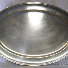 Vintage: GRAN BANDEJA DE ALPACA , 50 CM. Lote 47867174