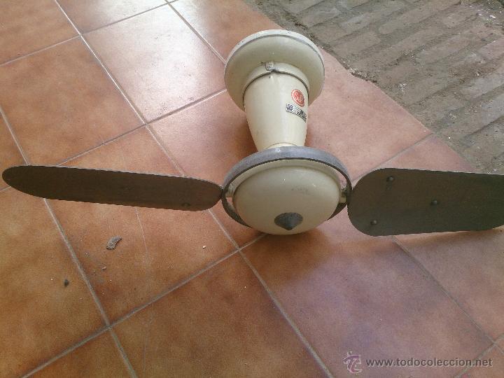 Ventilador antiguo de techo comprar en todocoleccion - Ventilador de techo vintage ...