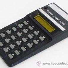 Vintage: CALCULADORA - CANON CARD LC-20 -¿ VINTAGE ? - FABRICADA EN JAPÓN - MÁQUINA - LC20 - TRASERA DE METAL. Lote 48036860