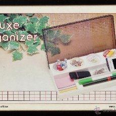 Vintage: ORGANIZADOR DE LUXE - CAJA PLASTICO TRASPARENTE AMBAR - PERFUMERIA / PAPELERIA - VER FOTO - AÑOS 80. Lote 48061815