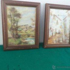 Vintage: 2 CUADROS LAMINAS. Lote 48160311