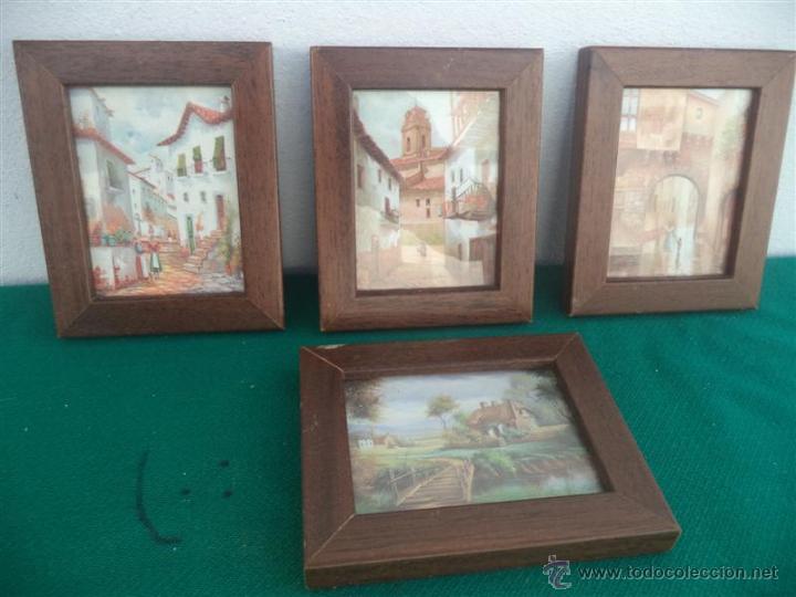 4 CUADRITOS LAMINAS (Vintage - Decoración - Varios)