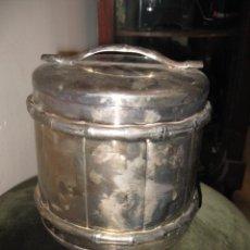 Vintage: ANTIGUA HIELERA DE ALPACA MEDIDA 16 X 16 CM.. Lote 48202241