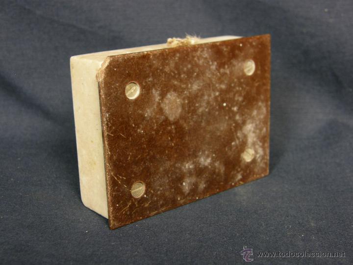 Vintage: timbre de mesa marmol boton metal años 40 50 2,2x7,5x5,5cms - Foto 5 - 48340840