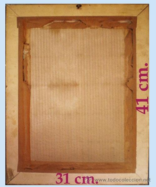 Vintage: Reverso del cuadro. y medidas. - Foto 3 - 48340998