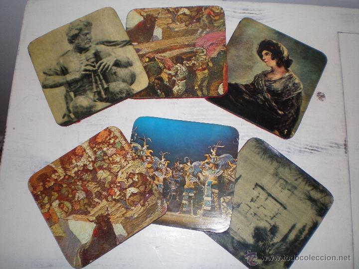 JUEGO 6 POSAVASOS VINTAGE (Vintage - Varios)