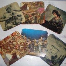 Vintage: JUEGO 6 POSAVASOS VINTAGE. Lote 48441971
