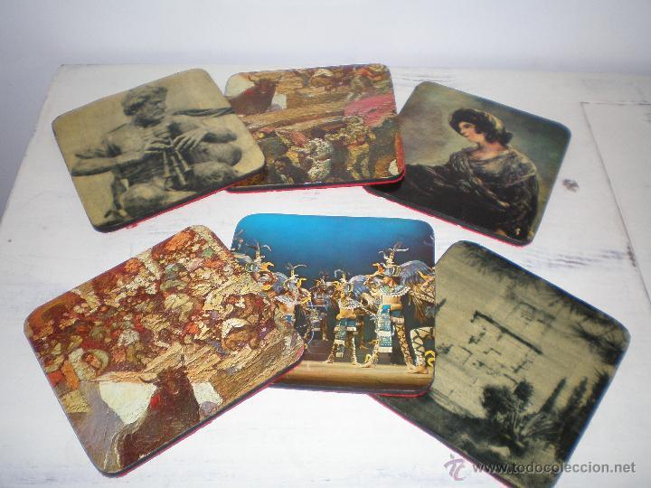 Vintage: JUEGO 6 POSAVASOS VINTAGE - Foto 2 - 48441971