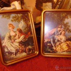 Vintage: LITOGRAFIA ENMARCADA MARCO DE MADERA Y PAN DE ORO... Lote 48458188